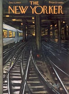 The New Yorker Cover - January 1963 Poster Print by Arthur Getz at the Condé Nast Collection Design Ttribe Apparel The New Yorker, New Yorker Covers, Book And Magazine, Magazine Art, Magazine Covers, Capas New Yorker, Vintage Magazines, Travel Posters, Art For Sale