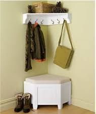 """Entryway-cute for small foyer or even a """"dressing area"""" in a larger closet"""
