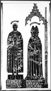 All Saints Parish, Stamford, Lincolnshire. William and Margaret Brown 1489.