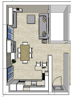 Progetto Living con cucina e tanti desideri – Mayday Casa Blog e Progetti Kitchen Interior, Kitchen Design, Open Kitchen And Living Room, House Layouts, Home Projects, Sweet Home, New Homes, Floor Plans, House Design