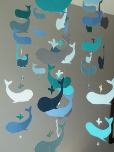 Original Whale Mobile by SouthernPearlDesigns