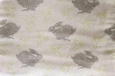 Headlong Hare Grey Linen Fabric