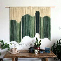 Wool Wall Hanging, Yarn Wall Art, Macrame Wall Hanging Patterns, Hanging Art, Tapestry Wall Hanging, Wall Hangings, Macrame Patterns, Diy Wall, Design