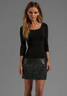 Bailey44 Allegory Long Sleeve Dress in Black/Grey