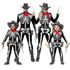 Familia Esqueletos Cowboy #disfraces #carnaval #disfracesparagrupos