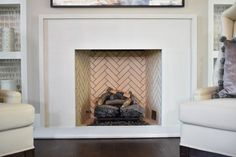 Transform any room from ordinary to elegant when you include the addition of an Isokern Fireplace. This masonry, gas burning fireplace features a beautiful cream colored, herringbone firebrick pattern. Check out all of Isokern's fireplace and firebrick options over at earthcore.com... Fireplace Mantels, North America, Indoor Fireplaces, Photo Galleries, Herringbone, Pattern, Cream, Elegant, Design