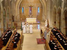Benedictine Abbaye Sainte-Madeleine du Barroux.Conventual weekday Mass. http://binged.it/17rPzrP