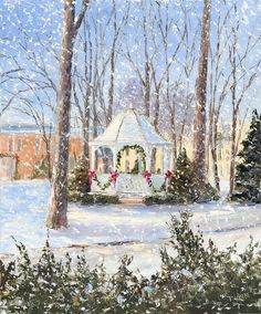 Another of my favorites -- Petoskey Christmas Gazebo by Valerie Thomson.