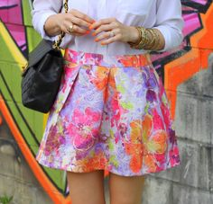 celebrity model's Boho Chic style fashion trend tip with floral print inspiration skirt