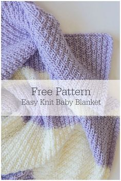 Baby Knitting Patterns This easy knit baby blanket pattern is super fun and also ea… Easy Knit Baby Blanket, Free Baby Blanket Patterns, Knitted Baby Blankets, Knitted Afghans, Afghan Crochet, Baby Afghans, Crochet Granny, Baby Knitting Free, Easy Knitting