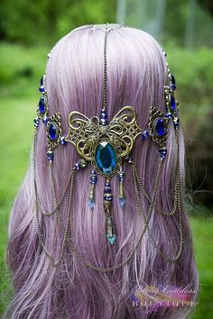 Hey, I found this really awesome Etsy listing at https://www.etsy.com/listing/177929952/sapphire-dreams-bridal-circlet: