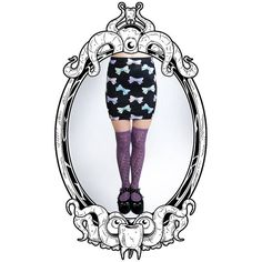 Pastel Eyebow Printed Bodycon Skirt in Black by ToothAndEye on Etsy, designed and handmade in Kamloops, BC, Canada!
