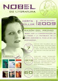 Herta Müller, la pluma rumano-alemana acreedora del Nobel de Literatura, por @Lorna Riojas Campos M. Ingresa a la web de la imagen para poder acceder a los links de la infografía | De Papel a Digital