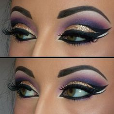 This article is about Egyptian Eye Makeup.There are many kinds of Egyptian Eye Make up i.e cat look eye makeup and Cleopatra eye makeup but we discuss here a easy one. Beautiful Eye Makeup, Love Makeup, Beauty Makeup, Makeup Looks, Hair Makeup, Purple Makeup, Purple Eyeshadow, Makeup Eyeshadow, Gypsy Makeup
