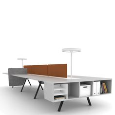 Captivating Hot Desking and The Death Of The Cubicle with Minimalist Office Table feat Gray Color feat Book Storage. Modern Modular Desk Furniture For Office Interior Modular Furniture, Space Furniture, Home Office Furniture, Furniture Ads, Bathroom Furniture, Modern Furniture, Furniture Design, Office Interior Design, Office Interiors