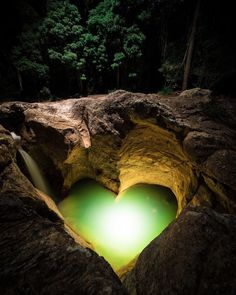 "Emerald Heart | Photograph by Dave Kan (@davekandotcom) . ""This heart-shaped pool…"""