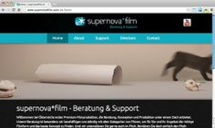 Für die High-End-Marke der News on Video GmbH wurde von echonet ein neuer Webauftritt in Form von responsive Webdesign geschaffen. supernovafilm.com / Startseite mit Katzenvideo © echonet communication GmbH