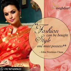 Thought of the Day. #TOTD #Attitude #meghdoot #saree # ...