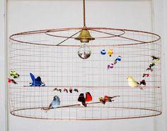 LA VOLIERE BIRD LAMPS by Mathieu Challières