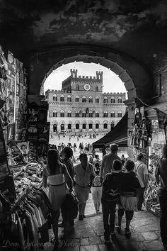 Entrance to the Piazza del Campo..... Piazza del Campo is the principal public space of the historic center of Siena, Tuscany, Italy and is regarded as one of Europe's greatest medieval squares.