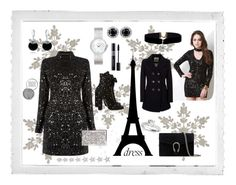"""""""Winter dress"""" by majalina123 ❤ liked on Polyvore featuring Polaroid, Warehouse, Elise Dray, Dior Timepieces, Obsessive Compulsive Cosmetics, Christian Dior, Gucci, Elie Saab, Bling Jewelry and Geox"""