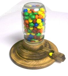 Mason jar gumball machine