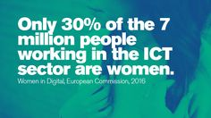 Only of the 7 million people working in the ICT sector are women. A Days March, Stem Science, Women In History, Read More, Things To Think About, Technology, Digital, People, Tech