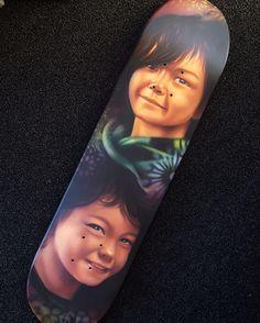 Airbrushed skate board deck by @matt_parkin_art @Soular Tattoo - Christchurch - New Zealand
