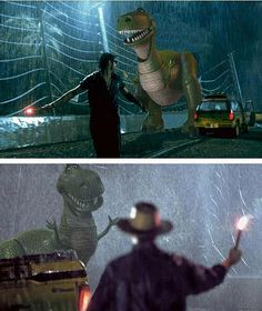 Jurassic Park meets Toy Story