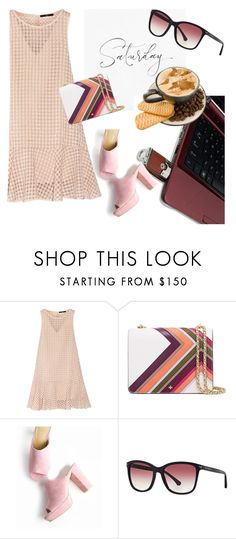 """Saturday"" by clotheshawg ❤ liked on Polyvore featuring TIBI, Tory Burch and Emporio Armani"