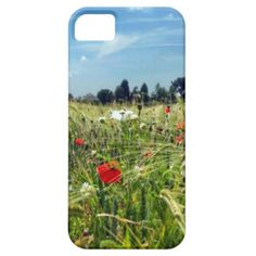 A fabulous picture on a quality phone case designed from an original photograph taken in Kent, England on a glorious summer day and showing the wonderful wild red poppies and white daisies in a country meadow. it's no wonder they call the area the garden of England. #red-poppies #wild-flowers #white-daisies #garden-of-england #kent-england #summer-meadows #country-scene #red-poppy #white-daisy #floral #countryside #red-white-green
