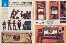 """Corrierino e Giornalino: Il """"saloon"""" e i suoi personaggi"""