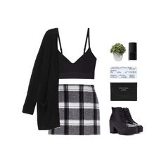 """""""I don't wanna go to school, I just wanna break the rules"""" by janettetang ❤ liked on Polyvore featuring River Island, Base Range, Monki, Forever 21, NARS Cosmetics, Nearly Natural, Acne Studios and modern"""