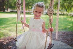 Doesn't get cuter than a sweet flower girl on a tree swing! #Cedarwoodweddings Kelly+Ben :: 07.16.2016 | Cedarwood Weddings