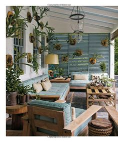 louvered shutters as a screen on the porch