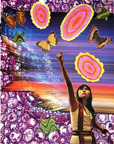 Minna Gilligan I am Woman collage! Kunst Inspo, Art Inspo, Psychedelic Art, Wall Collage, Retro Aesthetic, Cool Art, Creations, Drawings, Valentino