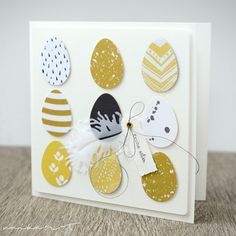 Another Eier-Arrangemant takes place on this map: And then there were still left out eggs . Diy Easter Cards, Easter Greeting Cards, Diy Cards, Handmade Easter Cards, Easter Art, Easter Crafts, Easter Eggs, Arte Van Gogh, Easter Printables