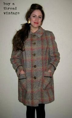 Vintage 1960's Country Pacer Wool Mod Coat