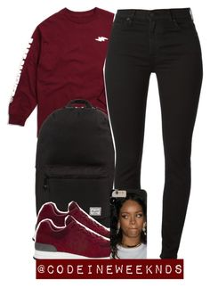 """11/29/15"" by codeineweeknds ❤ liked on Polyvore featuring Herschel Supply Co. and New Balance"