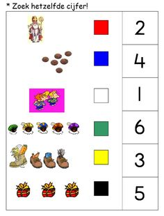 * Zoek hetzelfde cijfer! 1-2 Counting, Numbers, December, School, Cards, Index Cards, Maps, Playing Cards