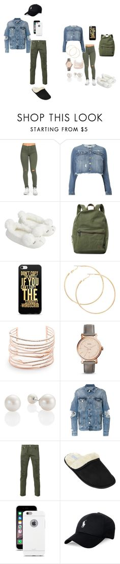 """....."" by karalynn980 on Polyvore featuring Evans, Accessorize, Herschel Supply Co., Alexis Bittar, FOSSIL, Balmain, Dondup, Leisureland, Moshi and Polo Ralph Lauren"