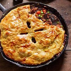 Beef Pot Pie--might be good with ground beef or chicken instead