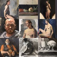 #2017bestnine   Its hard to choose nine - but here are some of the top choices from this past year. Happy New Years Day! #newyearsday #artist #art #bestof2017 #oilpainting #drawing #figurativeart #stilllife #painting