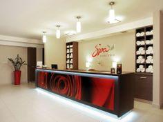 Recepcja strefy SPA Hotelu Austeria