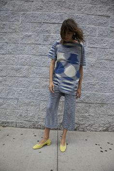 // Lauren Manoogian | SPACE T TUNIC, INDIGO/NATURAL