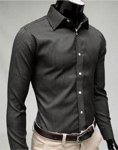 Amtify Summer SALE! 70% OFF this Men's Black Long Sleeve Shirt. Material : Cotton Blend Size : Small Color : Black Shoulder : 42 cm / 16.4 inch Sleeve : 61 cm / 23.8 inch Chest : 92 cm / 35.9 inch Len