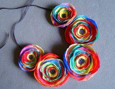 Collar flor de Ifffka por DaWanda.com
