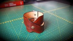 Brown Handmade Leather Bracelet Cuff Women's Men's unisex Leather by CrusaderArmoury