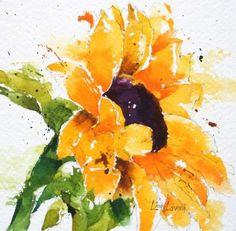 sunflower watercolor - Pesquisa Google