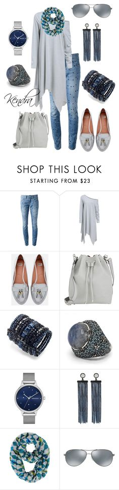 """Scarf & Loafers"" by kmariestyles ❤ liked on Polyvore featuring Étoile Isabel Marant, Zara, Proenza Schouler, c.A.K.e. by Ali Khan, Stephen Dweck, Skagen, Marc by Marc Jacobs, Echo Design and Ray-Ban"